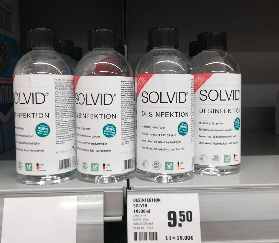 Desinfektion Flaschen zur Kommissionierung